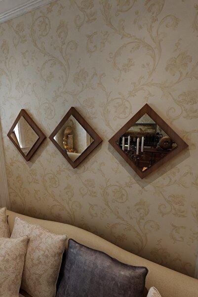 İkizlerçeyiz Venüs Dekoratif Ayna Ceviz