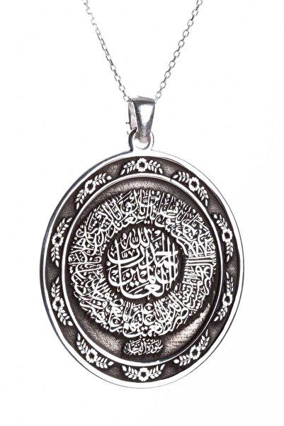 Anı Yüzük Gümüş Fatiha Suresi Yazılı Dini Kolye Gümüş Renk