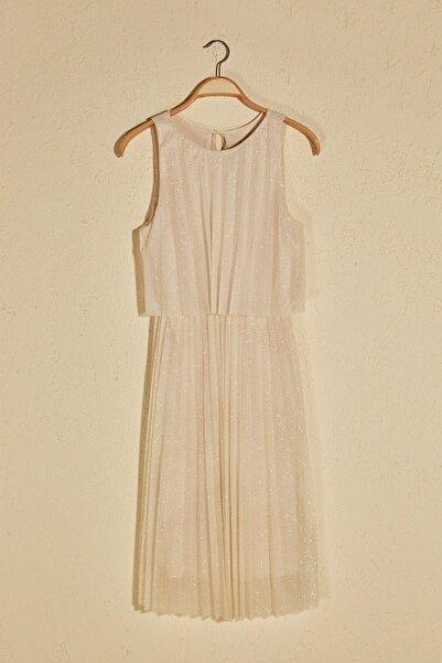 Somon Piliseli Işıltılı Elbise TPRSS20EL1420