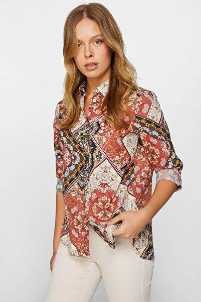 Faik Sönmez Kadın Multi Desenli Vual Gömlek 60402 U60402