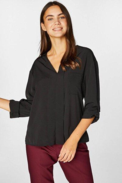 Faik Sönmez Kadın Siyah Bluz 39130 U39130