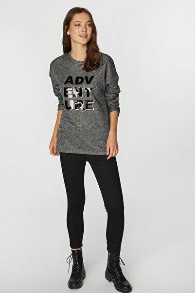 Faik Sönmez Kadın Antrasit Sweatshirt 39556 U39556