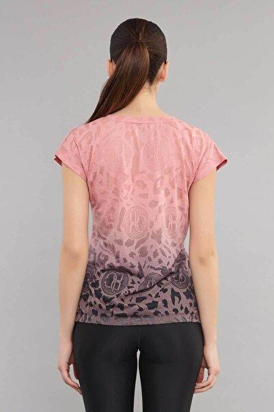 Pembe Pamuk/Poly Kadın T-Shirt ES-4222
