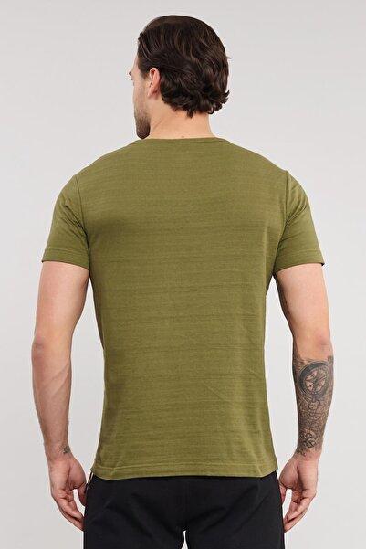 Yeşil Pamuklu Erkek T-Shirt ES-4007