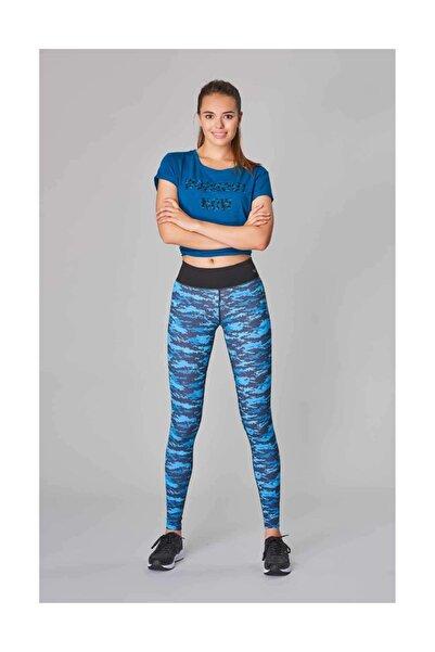 Mavi Toparlayıcı Sporcu Kadın Tayt DW-2846