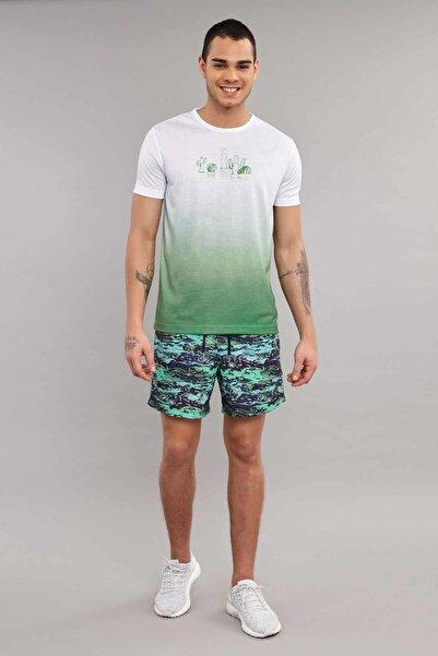 Yeşil Erkek Antrenman T-Shirt ES-4012