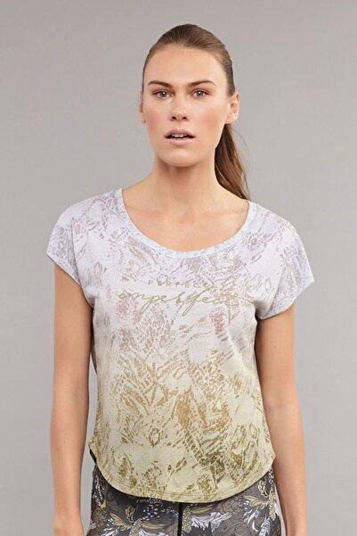 Beyaz Pamuk/Poly Kadın T-Shirt ES-3572