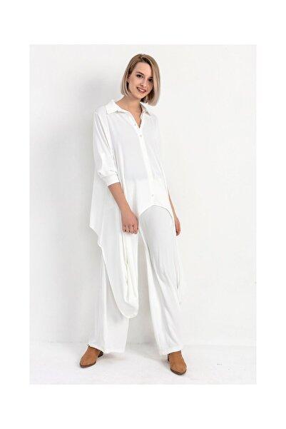 Tiffany Y20008 Yanları Uzun Dubai Gömlek