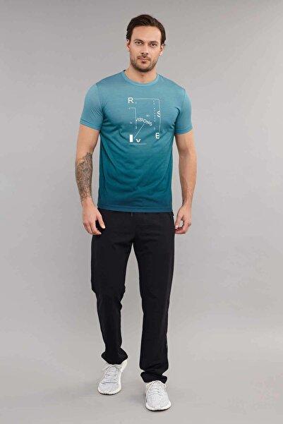 Mavi Pamuk/Poly Erkek T-Shirt ES-3855