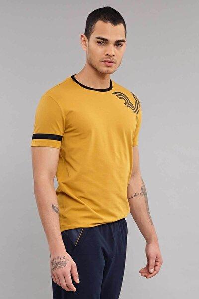 Sarı Pamuklu Erkek  T-Shirt ES-3882