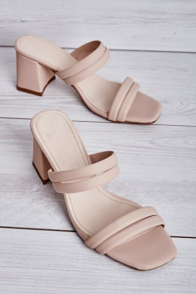 Bambi Ten Kadın Klasik Topuklu Ayakkabı L0503560409