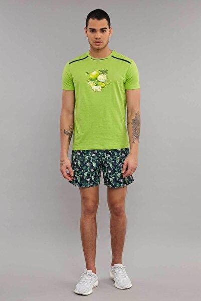 Yeşil Pamuklu Erkek T-Shirt ES-4001