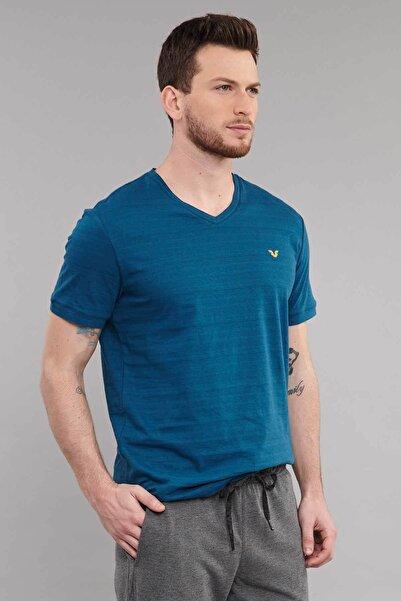 bilcee Mavi Pamuklu  Erkek T-Shirt ES-3904