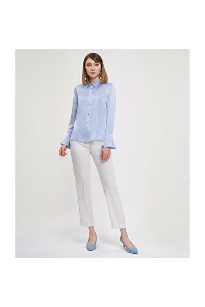 Aker Manşetli Açık Mavi Bluz V23070256