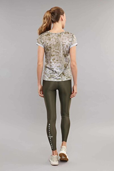 Kahverengi Pamuk/Poly Kadın T-Shirt ES-3592