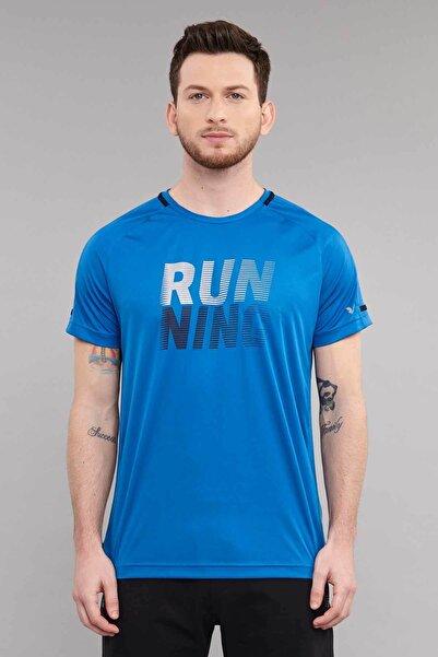 bilcee Mavi Erkek Antrenman T-Shirt ES-3804