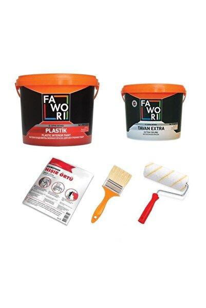 Fawori Plastik Iç Cephe Duvar Boyası 20kg+tavan 10kg+boya Seti**bahar Lilası**