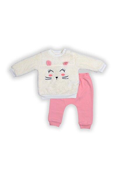 Pierre Cardin Baby Pierre Cardin Peluşlu Bebek Takımı Koyu Pembe