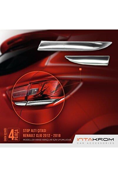 İntachrom Renault Clio 4 Krom Stop Alt Çıtası 4 Parça 2012 -2018
