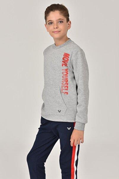 bilcee Gri Unisex Çocuk Sweatshirt FW -1490