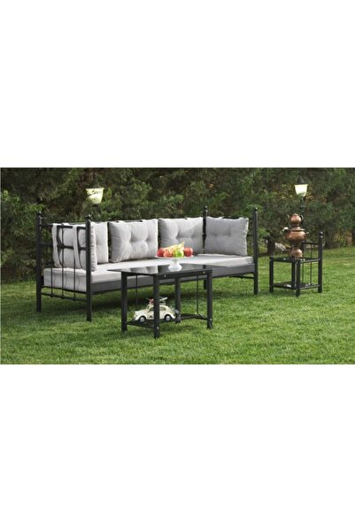 Vivense Siyah Lalas Metal Sofa Sedir 70x200 cm