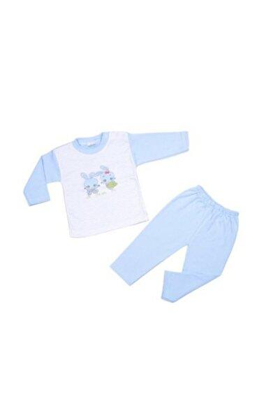 AYYILDIZ Unisex Bebek Mavi Tavşan Desenli Takımı