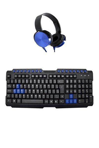 Mkey 945 Standart Usb Giriş Kablolu Klavye Ve Mikrofonlu Kulaklık Set