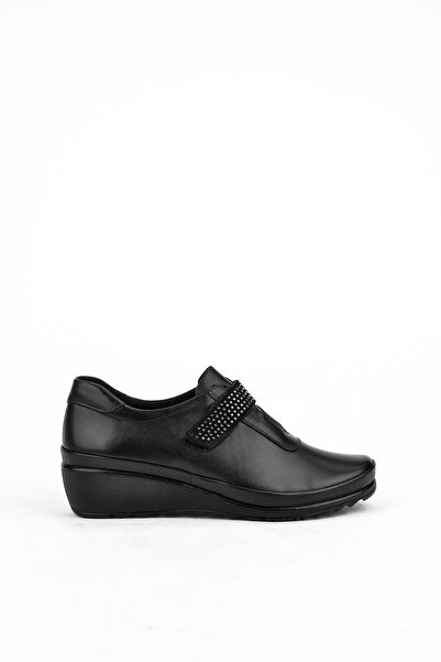 Ziya Kadın Sıyah Hakiki Deri Ayakkabı 10355 2417