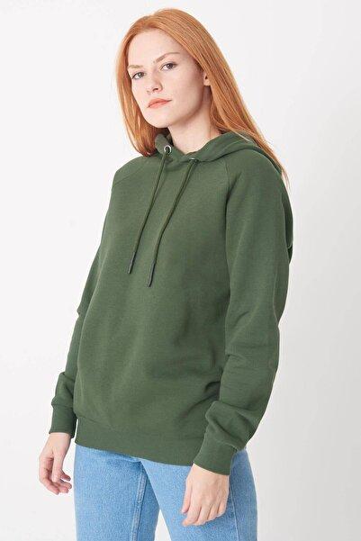 Addax Kadın Haki Kapüşonlu Sweatshirt