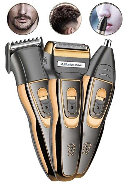 Wildlebend Gold 3in1 Erkek Bakım Seti Saç Sakal Burun Tıraş Makinesi