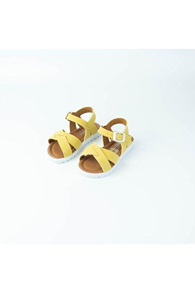 Modatamam Kız Çocuk Sarı Sarmal Sandalet