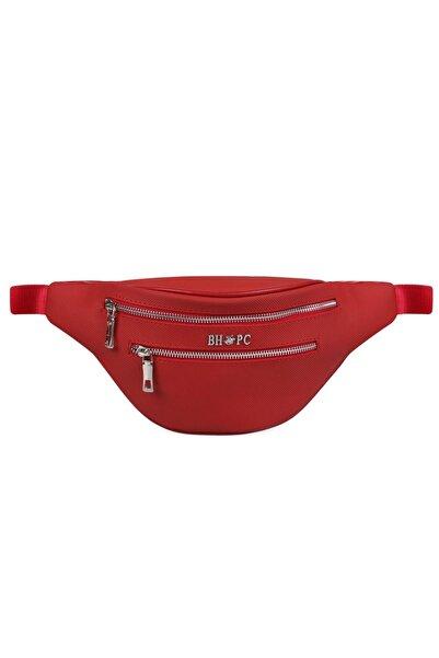 Beverly Hills Polo Club Kadın Çok Bölmeli Bel Çantası Kırmızı