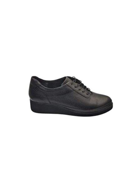 Biolife Kadın Siyah Comfort Derı Ayakkabı