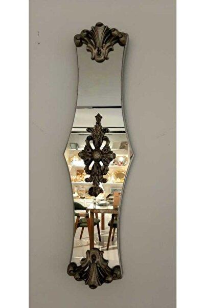 SETA BIANCA Gümüş Işlemeli Dekoratif Ayna Duvar Dekorasyon Obje
