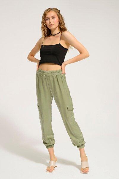 Batik Kadın Haki Düz Casual Pantolon Y42681