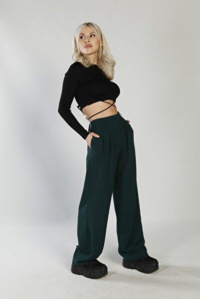 HOLLY LOLLY Kadın Yeşil Palasia Pantolon