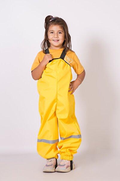 Belkızın Atölyesi Sarı Çocuk Yağmur Pantolonu / Su Geçirmez