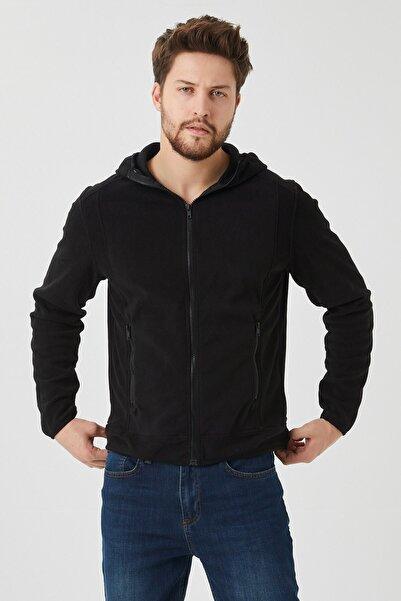 VENA Erkek Siyah Calvın Polar Ceket