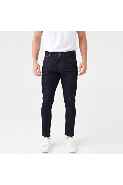 Five Pocket Erkek Lacivert Jean Pantolon (7302-s975)