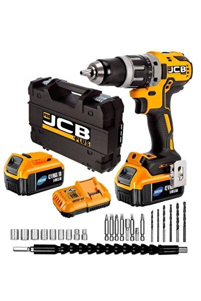 ProJCB Plus Jcb Pro Plus Xr 42 V 5 Ah Sjs Metal Şanzuman Akülü Darbeli Matkap 13 Mm 27 Parça Usta Set Hediye