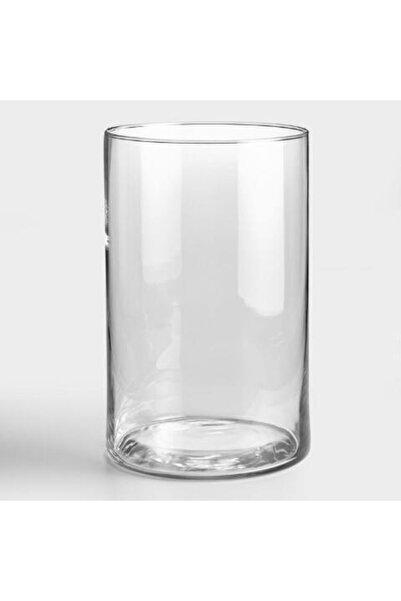 GLASSY Silindir Cam Vazo 19 Çap 30 Cm