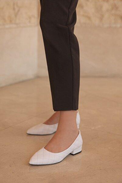 STRASWANS Worde Deri Topuklu Ayakkabı Beyaz