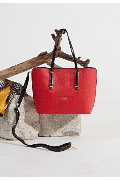 Setrms Kadın Kırmızı Dokulu Çanta