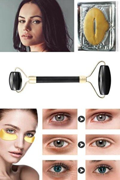 Jade Roller Siyah Yeşim Taşı + Dudak Maskesi + Gözaltı Maske Kolajen 8297415579373