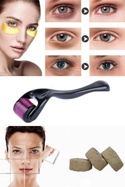 xolo Dermaroller 1 mm + Mühürlü Ruşur Taşı + Gözaltı Maskesi Kolajen Göz Maskesi 8297415579364