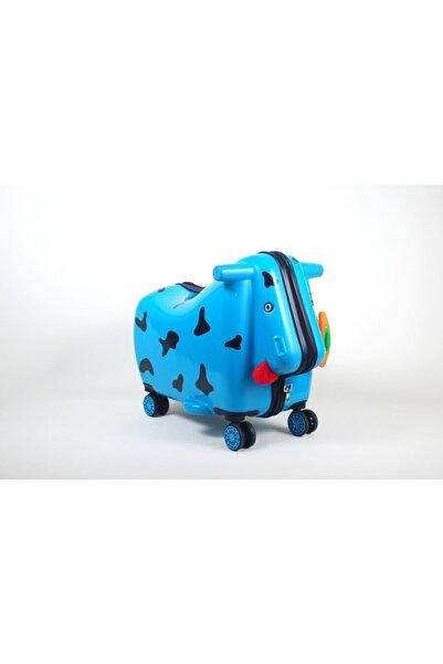 OX Moo Çocuk Valizi Mavi Inek