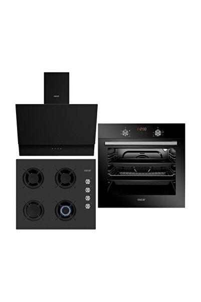 Oscar Siyah Cam Dokunmatik Set (8047 Fırın+ 3601 Ocak+ 5659 Davlumbaz)