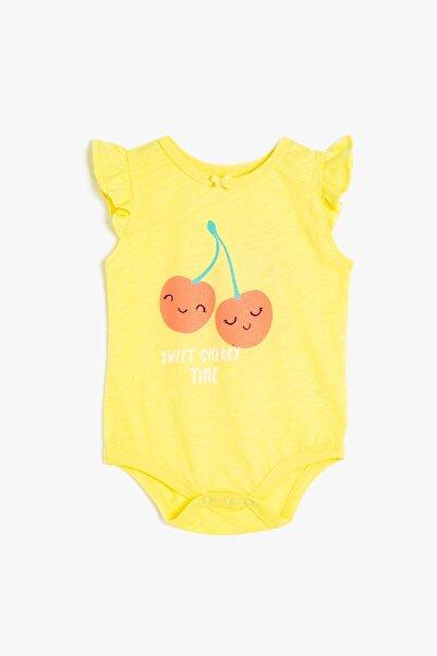 Koton Kız Bebek Sarı Bebek Body & Zıbın