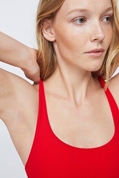 Kadın Cali Kirmizi Tek Renkli Bikini Üstü