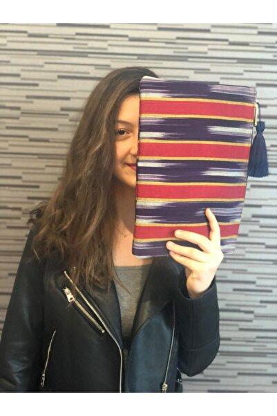 Decuple Craft Kadın Kırmızı El Dokuması Ipek Doğal Kutnu Kumaş Tasarım Çanta